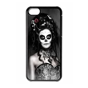 LZHCASE Diy Hard Shell Case Sugar Skull For Iphone 5C [Pattern-1]
