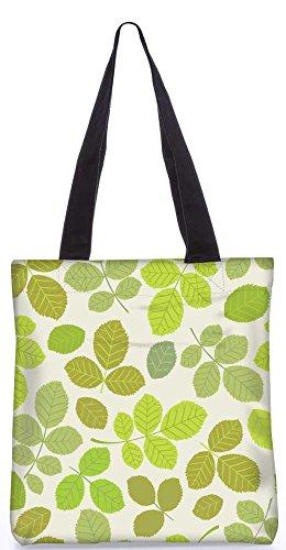 """Snoogg Abstrakten Blätter In Grün Einkaufstasche 13,5 X 15 In """"Einkaufstasche Dienstprogramm Trage Aus Polyester Leinwand"""