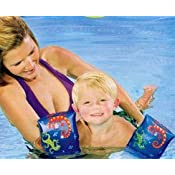 9 Swimming Arm Bands for kids - Arm Floats. Colorful Lizards by Sunshine
