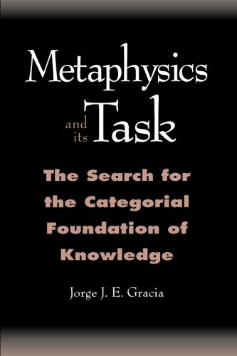 Metaphysics and Its Task: The Search for the Categorical Foundation of Knowledge (SUNY Series in Philosophy)