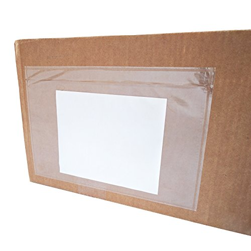 "6"" x 9"" Clear Plastic Self Adhesive Shipping Label / Packing Slip Envelope Pouches (100 pcs) (Pouch Adhesive Self)"