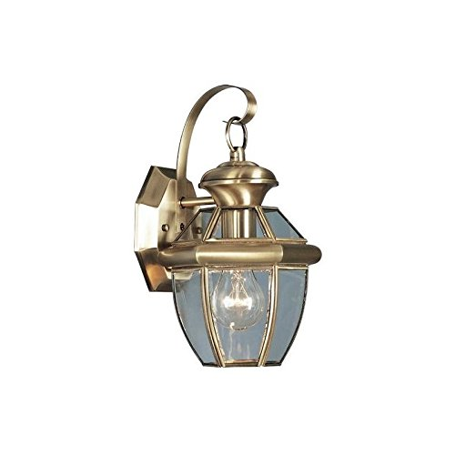 Beaumont Lamp - Beaumont Lane Outdoor Wall Lantern in Antique Brass