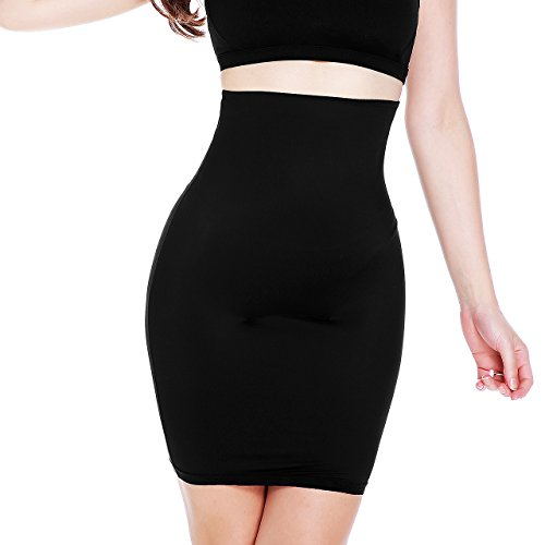 MUKATU Womens Invisible High Waist Shaping Panty Slim Control Skirt Firm Tummy Control Half Slip Shapewear for Under Dresses