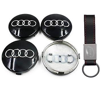Juego de 4 tapacubos de 68 mm, Color Negro, para Audi A3, A4 ...