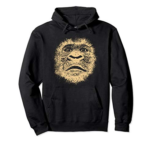 Chimpanzee Face Funny Gift for Gorilla Ape Lover Men Women Pullover Hoodie