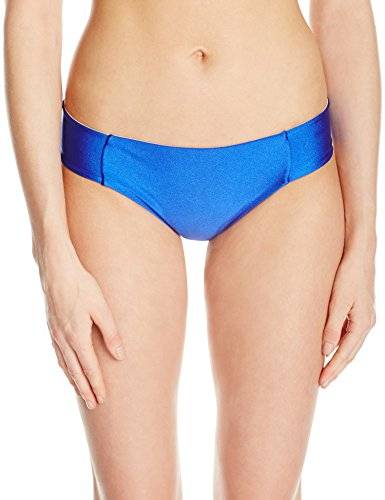 Luli Fama Women's Cosita Buena Side Tab Seamless Reversible Full Bikini Bottom, Electric Blue, (Reversible Full Swimsuit Bottoms)