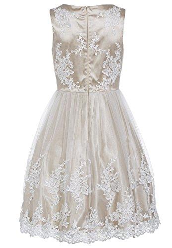 APART Glamour Vestido de gala Mujer Beige