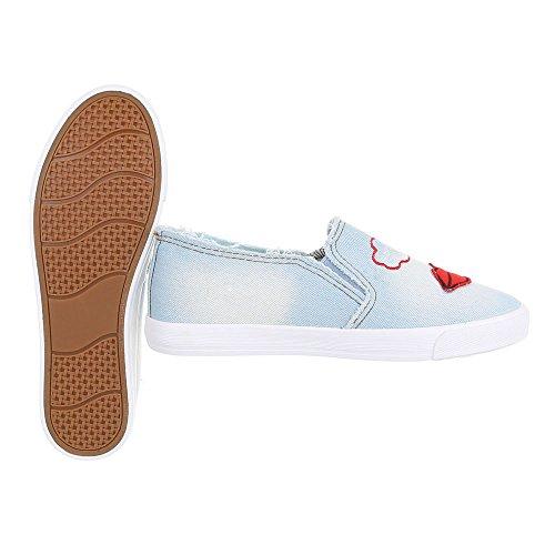 Ital-Design - Zapatillas de casa Mujer Hellblau R55-3