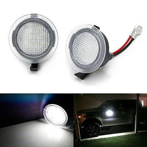- Cacys-Store - 2Pcs Car LED Side Mirror Puddle Lights for Ford F150 Edge Taurus Mondeo Explorer