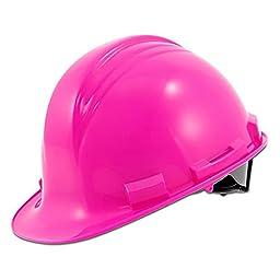 SafetyGirl SFTHHNO1000022957-00NL HDPE Peak Ratchet Adjust Cap Style Hard Hat, Pink