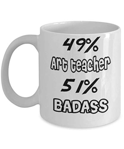 Funny Art teacher Gifts 11oz Coffee Mug - 51% BADASS - Best Inspirational Gifts and Sarcasm ak6026]()