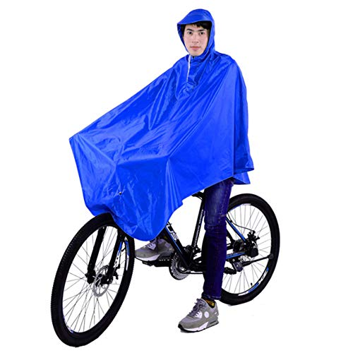 LIBWX Motorbike Rain Cape Coat, EVA Transparent Waterproof Raincoat Hooded with Single Rainwear Poncho Rain for Outdoor Hiking Camping XXXL,A1