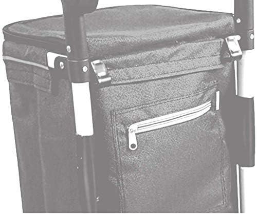 Gulakey Shopping Lightweight Shopping Trolley 40L Large-Capacity Trailer Foldable Aluminum Alloy Luggage Cart 7-inch Bearing Wheel Purple Bag