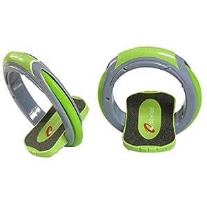 Inventist Orbitwheel Skates, Green/Blue