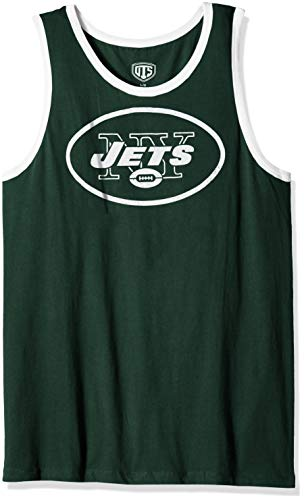 NFL New York Jets Men's OTS Cotton Tank, Distressed Logo, ()