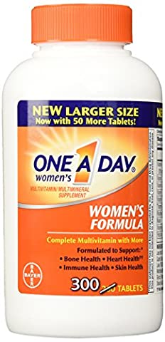 One-A-Day Women's Formula Complete Multivitamin 300 Tablets Bone Health Skin Health (One A Day Bayer)