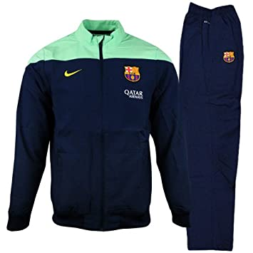 2fd889f3c9 Nike FC Barcelona Woven WarmUp Tracksuit New Children  Amazon.co.uk  Sports    Outdoors