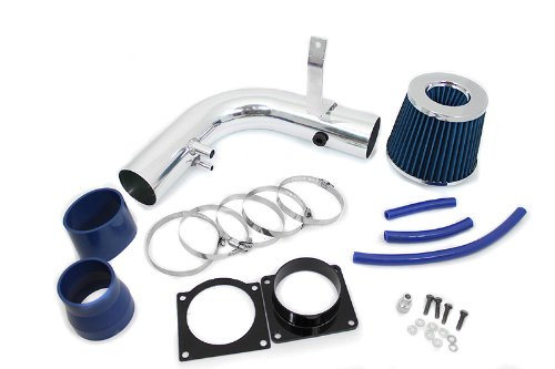 Ford Expedition Horsepower - 97-03 Ford F-150 / Expedition V8 4.6L & 5.4L / 97-99 F-250 V8 5.4L Short Ram Intake Blue (Included Air Filter) #SR-FD4B