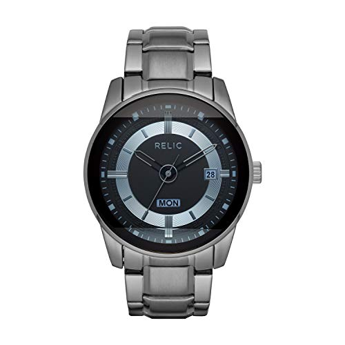 Relic by Fossil by Fossil Men's Everet Quartz Watch with Metal Strap, Gunmetal, 24 (Model: ZR12582)