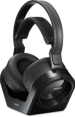 Sony Noise Reduction 150 feet Long Range Wireless Dynamic Stereo Headphones with Volume Control & Wide Comfortable Headband for All Coby LEDTV1526, LEDTV1926, LEDTV2226, LEDTV2326, LEDTV2426, TFDVD1595, TFDVD1995,TFDVD2295, TFDVD2395 LCD HDTV Flat Screen