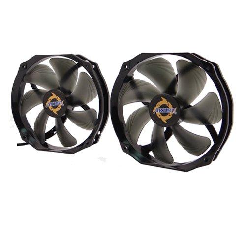 - Akust 140mm Blade 120mm Frame Sleeve Bearing 3-pin Cooling Fan 2 PCS