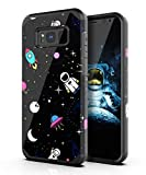 PBRO Galaxy S8 Plus Case,Cute Astronaut Case Dual Layer Heavy Duty Hybrid PC+TPU Heavy Duty Protective Anti-Scratch Shockproof Fit for Samsung Galaxy S8 Plus 2017 Release Space/Black