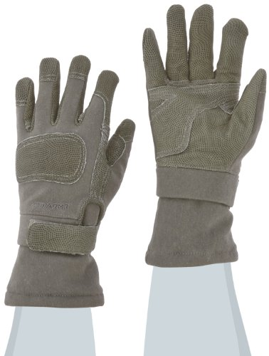 Ansell ActivArmr 46-455 Nomex Kevlar Flame Resistant Cold Weather Tactical Combat Glove with Textured Grip, Cut Resistant, Extended Cuff, 11-1/4