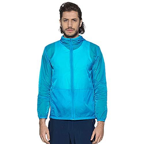 Pongfunsy Men's Cycling Jacket Vest Windproof Water-Resistant Coat Breathable Outdoor Sportswear Quick Dry Windbreaker Sky Blue - New Xxx Tequila