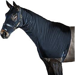 Snuggy Hoods Slinky Show Stretch Hood - Protect Braids and Shine Coat! (Black, M)