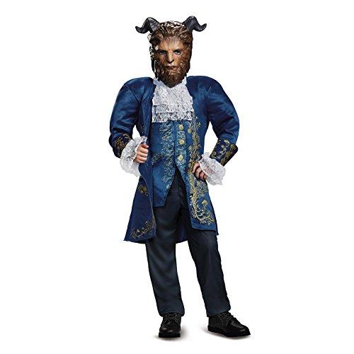 Blue Beast Child Costumes (Beast Deluxe Movie Costume, Blue, Medium (7-8))