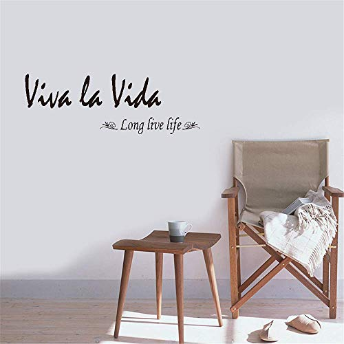 unanau Peel and Stick Removable Wall Stickers Viva La Vida Long Live Life for Bedroom Living Room]()
