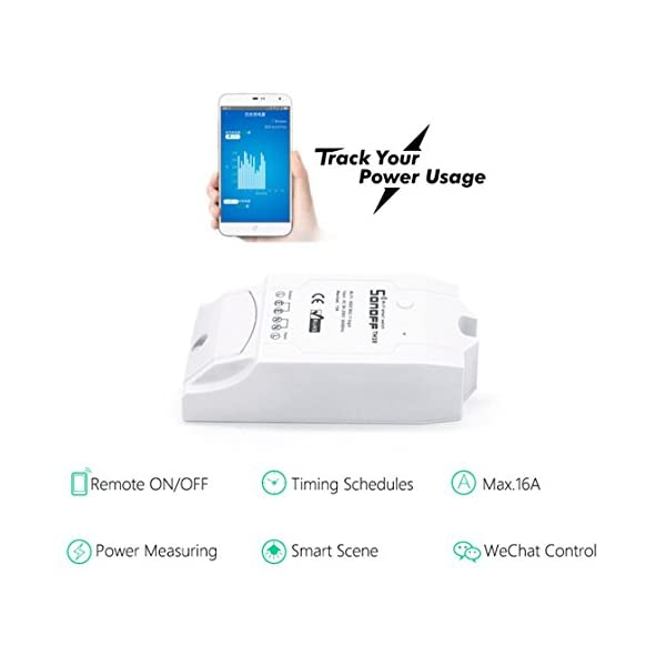 Snowsound Sonoff Pow WiFi Switch con Power Meter Intelligent Home Automation Module Telecomando via IOS Android Lavora… 3 spesavip