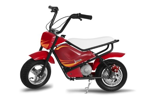Jetson Jr. Electric Bike for Kids - For Boys or Girls - Also Use as a Dirt Bike or Mini Electric Motor Bike - Safety Speed Restrictions Built In - Red Color