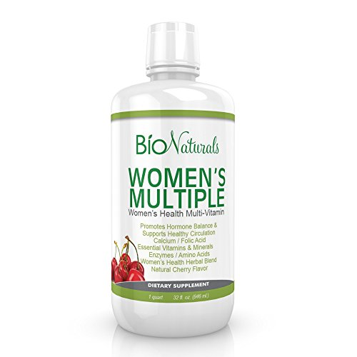 Women's Liquid Multivitamin – 100% Natural & Vegetarian Whole Food Supplement – Formulated for Women with Vitamins A B C D E, Minerals, Amino Acids, Herbs, Folic Acid & Extra Calcium – 32 fl oz For Sale