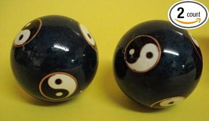 Asian meditation balls blue