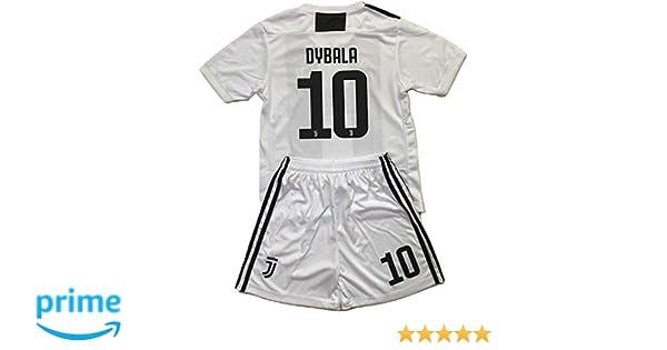 pick up c4198 e2f5e Enevva Dybala #10 Juventus 2018-2019 Youths Home Soccer Jersey & Shorts