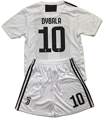 (Enevva Dybala #10 Juventus 2018-2019 Youths Home Soccer Jersey & Shorts (7-8 Years Old))