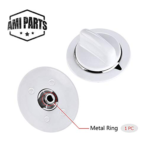 Hotpoint Electric Dryer - WE01x20374 Timer Control Knob WE1M654 with Metal Ring for General Electric Dryer & Hotpoint Dryers - Replaces AP3995098 WE01M0443 WE1M443