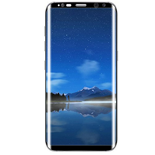 [2-PACK] MP-Mall For Samsung Galaxy S8 Screen Protector [Tempered Glass] [Full Cover] with Lifetime Replacement Warranty (Black)