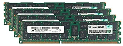 HP Genuine 64GB (4x16GB) Server Memory Upgrade 672612-081 for HP Proliant DL360p G8 DDR3 1600Mhz PC3-12800 ECC Registered 2Rx4 CL11 1.5v