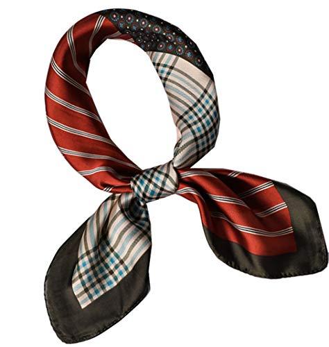 (Square Silk Feeling Neckerchief Handbag Hair Scarf Bracelet Gift For Women/Men (FGJ01-29))