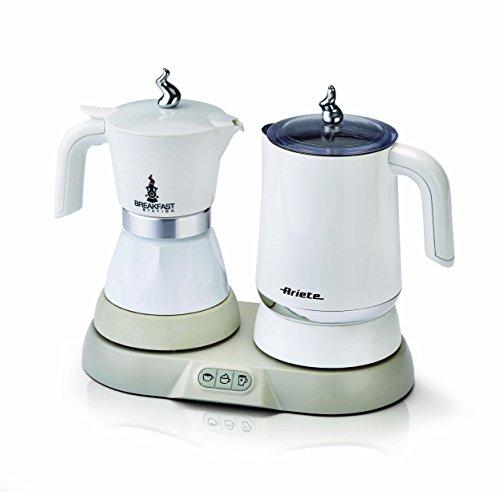 Ariete 1344 Breakfast Station - 3 prodotti in 1: Moka-Bollitore-Montalatte a caldo e freddo, 500W, 4/2 tazze… 1