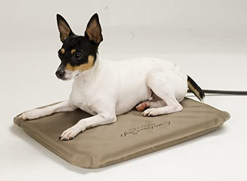 K H Lectro-Soft Outdoor Heated Pet Bed with Cover – Small, 14 inch x 18 inch, 20 Watt