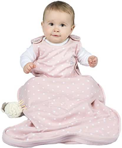 Woolino 4 Season Baby Wearable Blanket - Merino Wool - 2mo- 2yrs - Rose