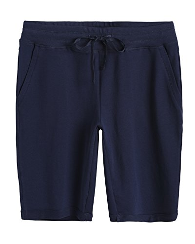Weintee Women's Cotton Bermuda Shorts with Pockets 2X Navy ()