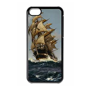 Unique Design -ZE-MIN PHONE CASE- For Iphone 5c -Sailing & Tall Ship-CUSTOM-DESIGH 6