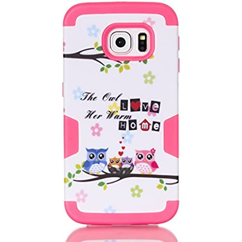 S7 Edge Case,Galaxy S7 Edge Owl Case, SAVYOU S7 Edge LOVE HOME Owl 3in1 Shield Hybrid Series Hard Case Cover with Sales