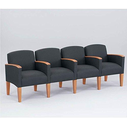 Lesro Belmont Four Seat Reception Chair w/Arms Dimensions: 95