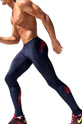 Calzamaglia Compressione Gli Uomini Palestrato Vosujotis Blackred Fitness Leggings Yoga Di In Sport SzMpUV