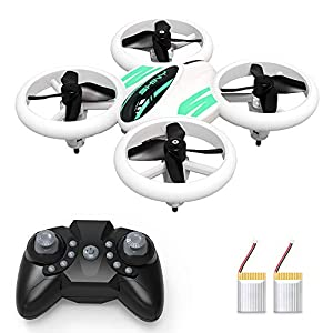 Mini Drone for Kids and Beginners – KOOME Upgraded Q8 LED Drone, RC Nano Pocket Quadcopter, Easy to Fly for Kids, Auto Hovering, 3D Flips, One Key Return, Long Flight Time & Long Control Range 41QmsxKLYRL